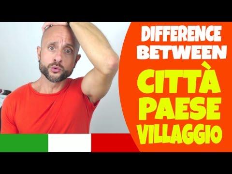 Learn Italian Phrases, Grammar and Culture Q&A - CITTÀ, PAESE and VILLAGGIO [Ask Manu Italiano]