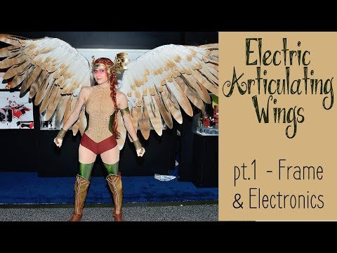 DIY Electronic Wings - pt.1 Frame & Electronics   Hawkgirl Cosplay Series