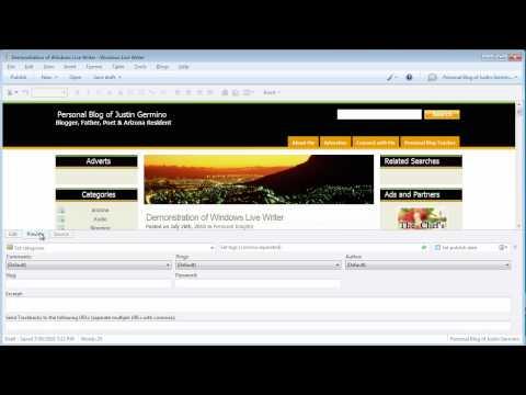 Using Windows Live Writer Video Tutorial