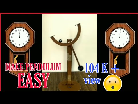 how to make pendulum | clock pendulum | homemade | paper art | free energy |