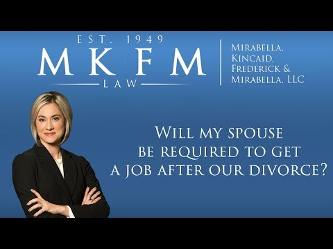 Will My Spouse Be Required to Get a Job After Our Illinois Divorce?