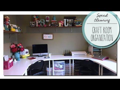 Speed Cleaning - Craft Room Organization - 2017