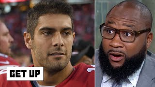 Jimmy Garoppolo was nervous and afraid against the Seahawks - Marcus Spears | Get Up