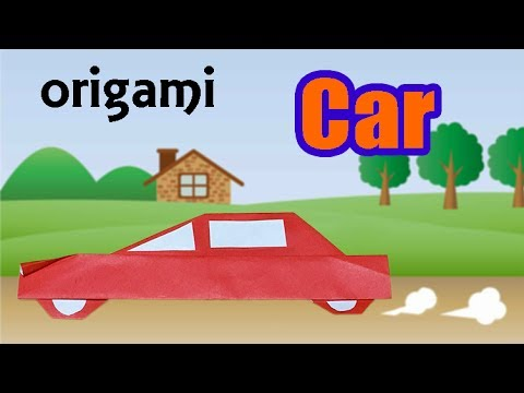 Cool Origami Car for Kids | How to Make a Paper Vehicle Sedan Car Step by Step | DIY Craft