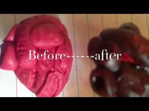 How To Make A Realistic Human Heart//Polymer Clay!