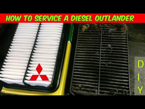 How To Replace The Oil, Air & Fuel Filters in A Mitsubishi Outlander 2.2 DI-D