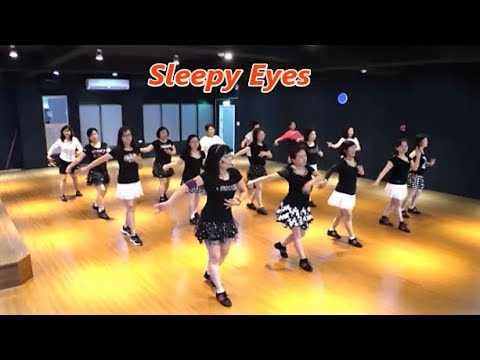 Sleepy Eyes (by Andrew Palmer & Sheila Palmer) - Line Dance (Demo & Walkthru) ~ 睡眼 - 排舞(含導跳)