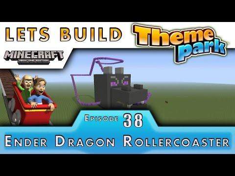 Minecraft :: Lets Build A Theme Park :: Ender Dragon Roller Coaster Tutorial :: E38