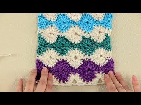 Catherine Wheel Crochet Stitch Tutorial
