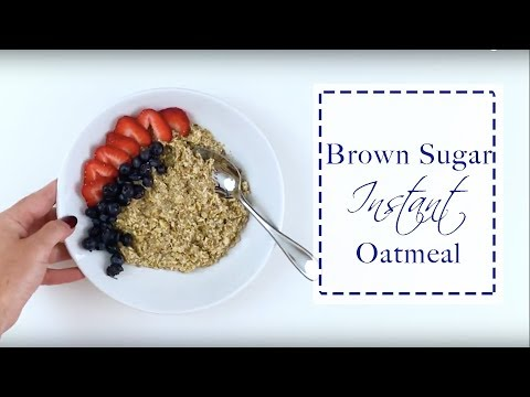 Brown Sugar Instant Oatmeal