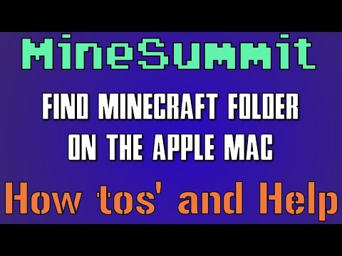 How too Find your .Minecraft folder and World Saves on Apple Mac, OSX