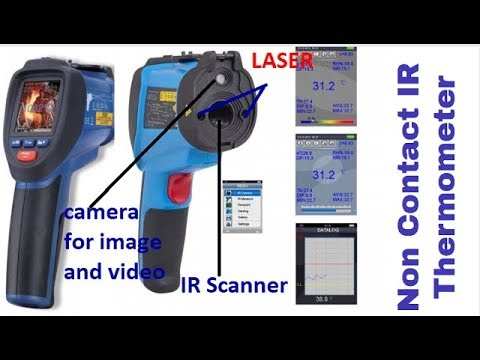 Non Contact infrared thermometer to measure temperature upto 2000 degree Celsius