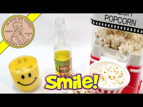 Movie Theater Popcorn Hot Air Popper With Banana Soda!