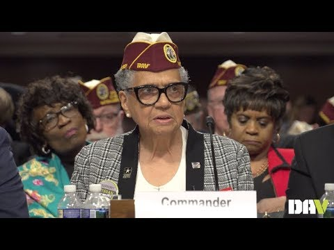 National Commander Delphine Metcalf-Foster delivers testimony before Joint Committee