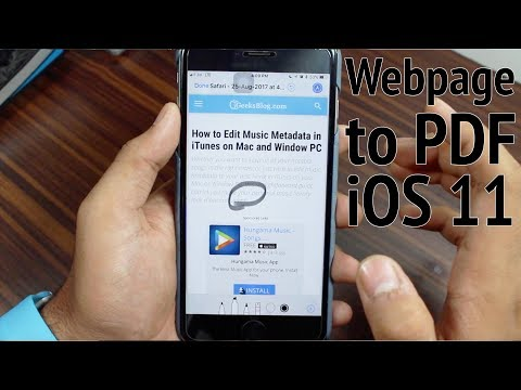 How to Save Webpages as PDF On Your iPhone/iPad
