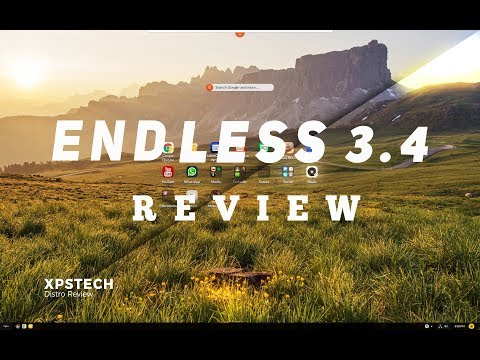 [Review] Endless OS 3.4 : NEW & BOLD DESKTOP DESIGN !!