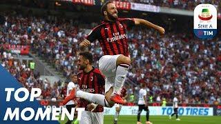 Higuaín Scores First San Siro Goal!   AC Milan 2-2 Atalanta   Top Moment   Serie A