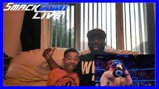 Jinder Mahal vs AJ Styles - WWE Championship Match - SmackDown LIVE - REACTON