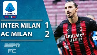 ZLATAN IBRAHIMOVIC! Ibra leads AC Milan past Inter in TENSE Milan derby | ESPN FC Serie A Highlights