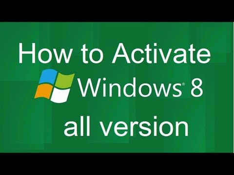 How to Activate Windows 8 all Version without Product key [Hindi]