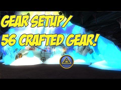 Wizard101: Level 56 Craftable Gear/Gear Setup! (Wintertusk Chief Gear)