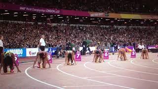 Dafne Schippers wins 200m Women Semifinal 1 IAAF World Champs London 2017