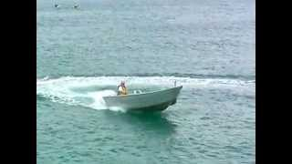 5m boat gets onto plane FAST!