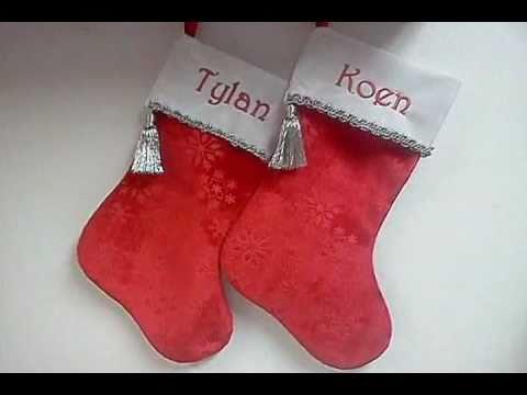 Snowflake Velvet Personalized Christmas Stockings