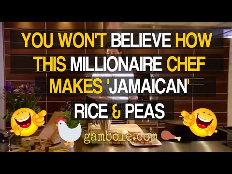 Chicken, Rice & Peas Marco Pierre White. Levi Roots will be laughing his dreads off at this.