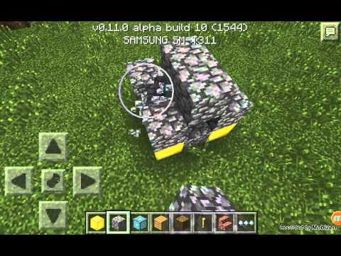HOW TO GET TO THE NETHER ON MCPE ANDROID V 0.11.0
