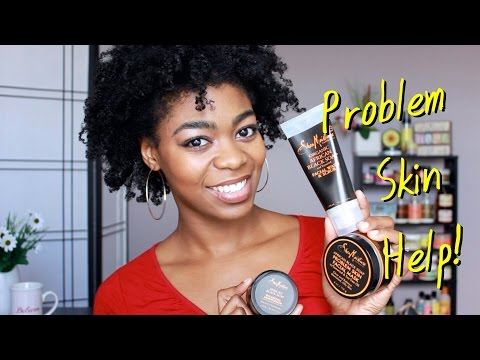 Oily/Problem Skin Help! - Shea Moisture African Black Soap Skin Care Review/Demo - 4C Natural Hair