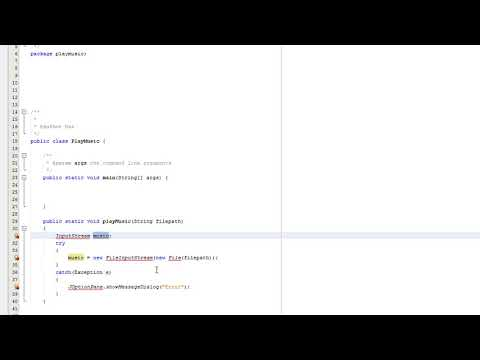How to play music in Java (Simple)