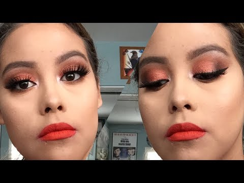 Cooper Cut Crease Smokey Eye + Red/Orange Lip ☄️ | Dare To Create/39A Palette