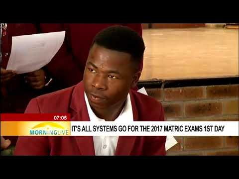 It's all systems go for the 2017 matric exams 1st day