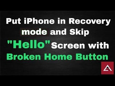 How to put iPhone in Recovery/DFU Mode and Skip Startup Hello Screen with broken home button