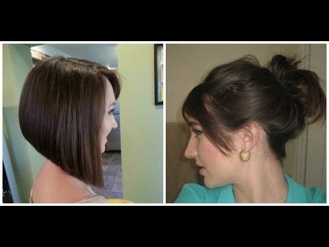 How to do a Messy Bun with Short Hair