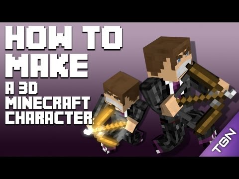 Tutorial: How To Make A 3D Minecraft Character [WeedLion Pack] (Cinema 4D)