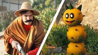 Super Mario vs Pokey in REAL LIFE