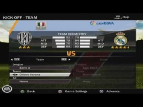 FIFA 12 PS2 Menu, Teams & Extras HD