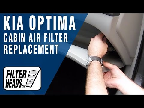 How to Replace Cabin Air Filter Kia Optima