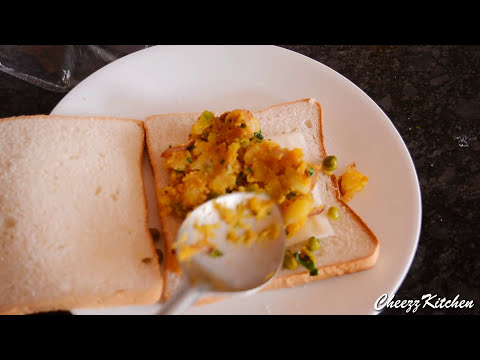 Masala Potato Cheese Sandwich