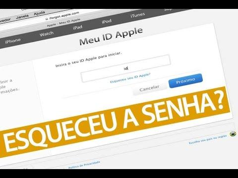 Como recuperar senha do ID Apple (esquecimento senha iCloud)