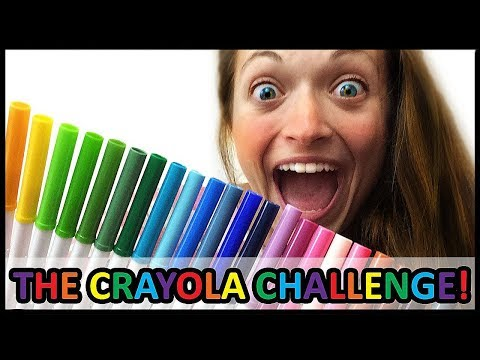 THE CRAYOLA MARKER CHALLENGE! (this is intense).