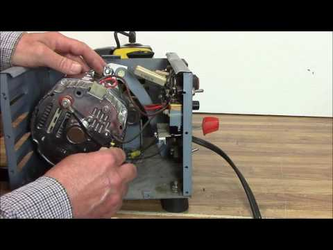 How to Build an Alternator Motor/Generator Battery Charger w/ String Trimmer Motor part 2 of 2