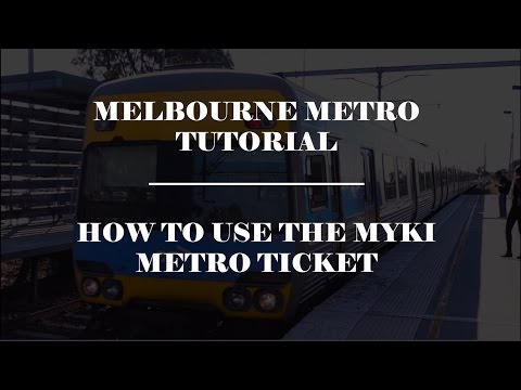 How to travel by tram in Melbourne - Die myki Card (ENG subtitle available)