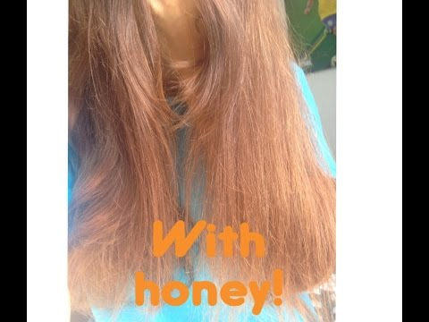 how to lighten your hair with naturally with honey!!