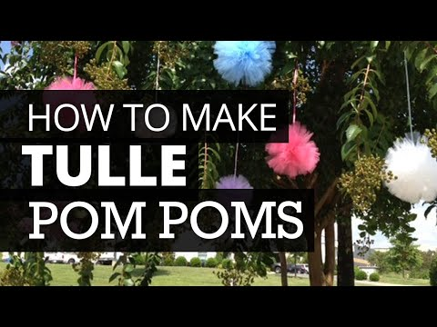 How To Make Tulle Poms   Nashville Wraps