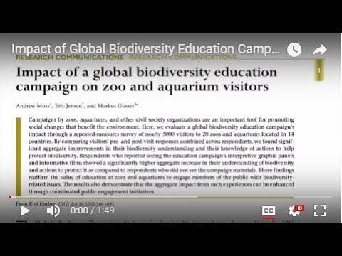 Impact of Global Biodiversity Education Campaign on Zoo & Aquarium Visitors (Moss, Jensen & Gusset)