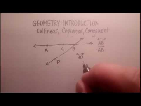Introduction: Basic Geometry Concepts (Collinear, Coplanar, Congruent) with problems
