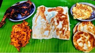 Veechu Porotta with Gun Chicken   Courtallam Border Rahmath kadai  Anna Nagar   Chennai Foodies